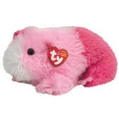 Pinky The Plush Pink Guinea Pig Beanie Babies By Ty