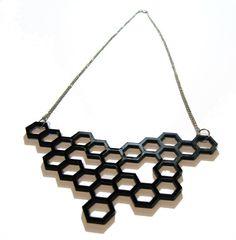 Honeycomb necklace.