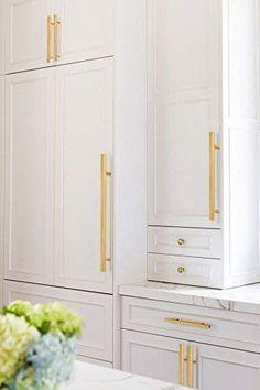 Gold Cabinet Pulls Square Kitchen Hardware Handles Cupboard Bathroom Door Knobs