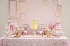 Romantic Bliss Wedding Desert Table