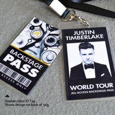 Justin Timberlake Backstage Pass with Lanyard by AtlanticSeaboard, $12.99