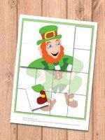 This one is all about matching and visual recognition as kids will have to place the tiles to put together a puzzle.   There are 4 different puzzles to be solved - a dancing leprechaun, leprechaun head, rainbow and a shamrock.