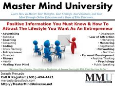 Master Mind University Info Ad for Online Education