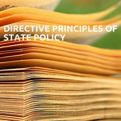 Directive Principles of State Policy(വകുപ്പ് 36-51) 1 .മാർഗ്ഗ നിർദ്ദേശക തത്വങ്ങൾ ഐറിഷ് ഭരണഘടനയിൽ നിന്നാണ് എടുത്തിട്ടുള്ളത് ക്ഷേമപദ്ധതികൾ സ്വയം ഭരണ വിഭാഗങ്ങൾ