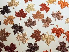 Fall Table Decorations Leaf Confetti Glitter by ThePartyHaven
