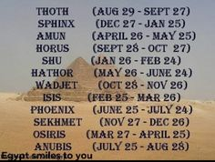 What's your ancient Egyptian horoscope sign? Tzar of the Pharoh Shadow Wolfs.