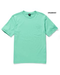 Crew Neck Pocket T-shirt at Cotton Traders