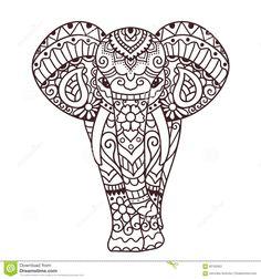Decorative Elephant Illustration Stock Vector - Image: 60192953