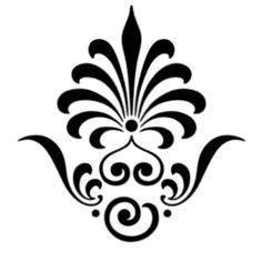 Kabak abajur için desen. Stencils, Stencil Diy, Stencil Painting, Fabric Painting, Stencil Patterns, Stencil Designs, Embroidery Patterns, Rangoli Designs, Henna Designs