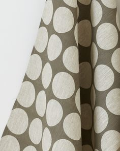 Classic dot, handprinted in slate ink on oatmeal linen. $24 at Studiopatro.com