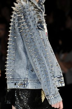 ☆ Rock 'n' Roll Style ☆ #spiked...Won't mind wearing this in the streets of Delhi