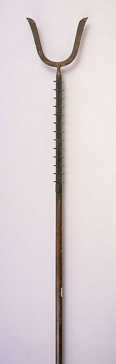 Sasumata: one of the Edo Period torimono sandōgu (three arresting tools).