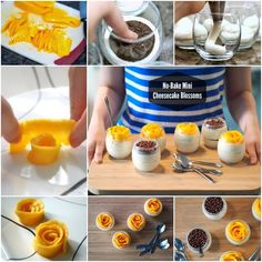 no bake mini cheesecake blossoms