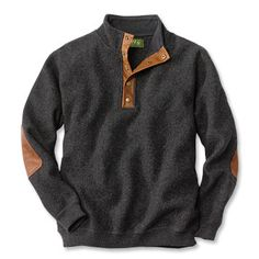 Wool Pullover Sweater / Boiled-Wool Snap-Front Pullover -- Orvis $150