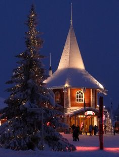Santa Claus Holiday Village in Santa Claus Village in Rovaniemi (Lapland, Finland)
