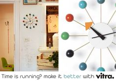 By George Nelson, a multicolor wall clock!  Get it! >>> http://www.cbstudio.net/home-decoration/ballclock.html #time #home #design #colors