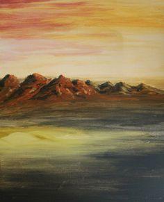 Acrílico sobre tela por Tristán Sotomayor  Paisaje / Pintura / Clase de Arte