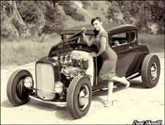 Hot Rods & pinups, like peas & carrots! Photos by Trent Sherrill, model is the gorgeous Crissy Henderson: http://www.myrideisme.com/Blog/model-a-hot-rods/