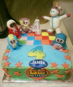 Go jetters disco cake 4th birthday