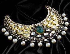 dull-finish-meena-work-necklace.jpg (763×598)