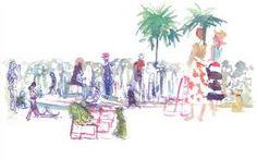 Image result for illustration people in park