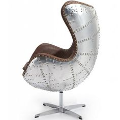 Aviator Leather Chair in Brown