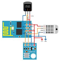 Using the 4 pins of the – Arduino, & Raspberry Pi stuff Wifi Arduino, Esp8266 Arduino, Esp8266 Projects, Iot Projects, Cool Electronics, Electronics Projects, Electronics Storage, Tech Gadgets, Cool Gadgets