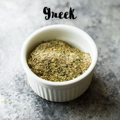 Easy Greek Seasoning recipe all mixed up in a bowl