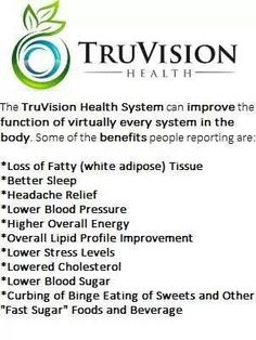 So many amazing benefits with TruVision Health. Restore your health and weight!