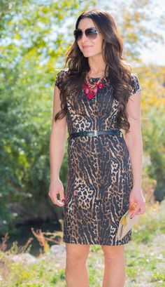 Jasmine Animal Print Dress | SexyModest Boutique