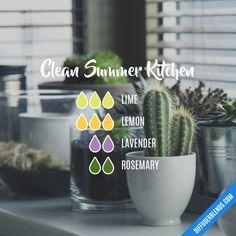 Clean Summer Kitchen - Essential Oil Diffuser Blend