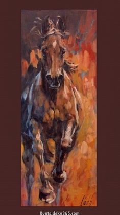 This Pin was discovered by ani Art Painting, Animal Art, Horse Canvas Painting, Horse Art Ideas, Art, Animal Paintings, Canvas Art, Art Pictures, Canvas Painting