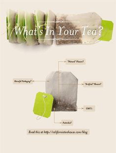 What's In Your Tea? Pesticides, GMOs, Flavorings and Plastic Packagings, Apparently