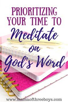 Mediatating on God's word