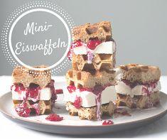 Mini Eis Waffeln Sandwicheis selber machen