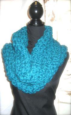 Lush Crochet Azure Infinity Scarf by StitchofStyle on Etsy, $35.00