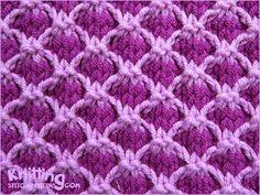 Two Color Lattice Stitch   Slip Stitch Pattern