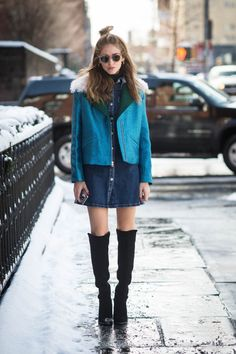 BACK TO 90′S: SIXTH LOOK FROM NYFW #streetstyle #fashionboot#boots