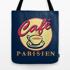cafe Parisien #Tote #Bag by Sylvia Cook Photography - $22.00 #shopping #retro #coffee