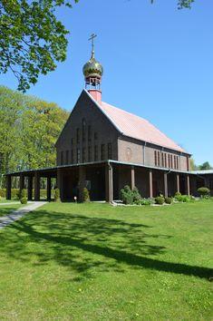 Старая часть города Клайпеды Парк скульптур, церковь Всех Святых - Клайпеда.