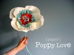large paper and fabric flowers