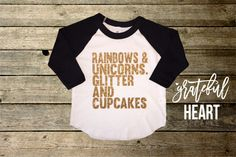 Unicorn shirt, Unicorn party, Unicorn birthday, Raglan tee, Raglan shirt, Glitter shirt, Rainbow birthday, Children's clothing, glitter t-
