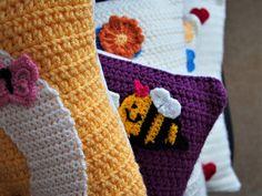 Medium monogram square cushion cover 40 x 40 cm throw pillow Personalised Bunting, Personalized Pillows, Monogram Pillows, Monograms, Gifts For Kids, Etsy Seller, Cushions, Throw Pillows, Gift Guide