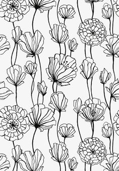 54 New ideas for flowers black and white drawing zentangle Boho Pattern, Pattern Art, Print Patterns, Pattern Painting, Black Pattern, L Wallpaper, Pattern Wallpaper, Wallpaper Stores, White Flower Wallpaper