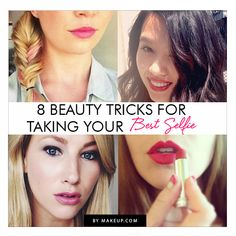 8 Beauty Tricks for Taking Your BEST Selfie // trust us, were pros! Cool websites where to buy? http://fancyoutletsale.com . like my pins? like my boards? follow me and I will follow you unconditionally and share you stuff if its pretty and cute :D http://www.pinterest.com/shopfancytemple/
