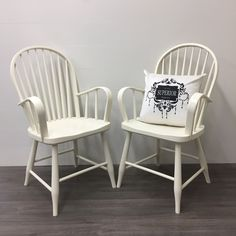 Ivory This is our soft warm white and one of our most popular colours! We love pairing Ivory with Fresh Air, Robins Egg or Burlap. Chalk Paint Chairs, Painted Dining Chairs, Robins Egg, Modern Farmhouse Style, This Is Us, Ivory, Colours, Warm, Painting