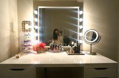 DIY vanity mirror