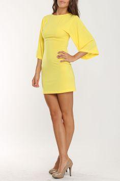 Alexis by Tal Sheyn Slip It On Short Dress In Yellow - Beyond the Rack