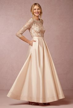 """Brides.com: . """"Viola"""" pleated taffeta ball skirt with sequined lace bodice, $485, BHLDN"""