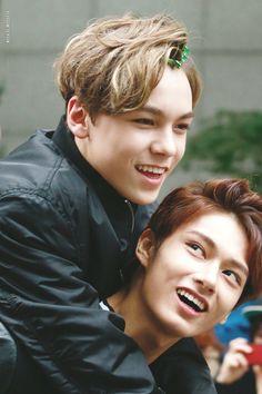 Vernon 버논 and Jun 준 of Seventeen 세븐틴